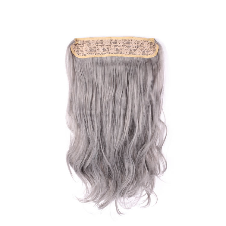 20 inch silver grey hair synthetic flip in hair extensions natural 20 inch silver grey hair synthetic flip in hair extensions natural wavy with secret miracle wire 140g pmusecretfo Choice Image