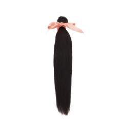 Virgin Malaysian Remy Hair Weave Straight Hair 10 inch  to 26 inch Tangle and Shedding Free Natural Black 100g