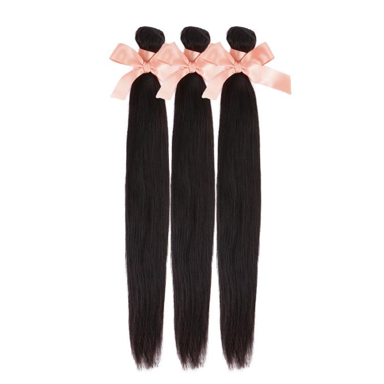 Malaysian Hair 3 Bundles Straight Virgin Hair Weaves 8 Inch 32