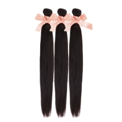 Malaysian Hair 3 bundles Straight Virgin Hair Weaves 10 inch - 26 inch Tangle And Shedding Free Natural Black 300g