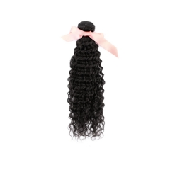 Malaysian Deep Curly Virgin Remy Hair Extensions 16 Inch To 26 Inch Natural Black 100g