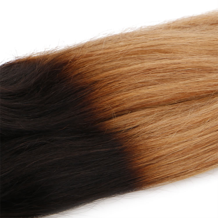 100 Remy Human Straight Hair 3 Bundles Ombre Hair Weave 1b27