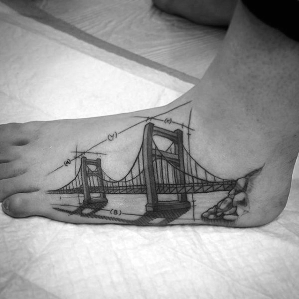 architecture-mens-bridge-foot-tattoos
