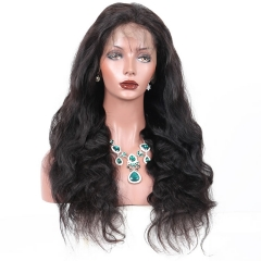 8A African American Brazilian Virgin Hair 360 Lace Frontal Wigs Cheap Real Human 360 Lace Wig Body Wave 250g