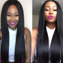 150% density 4x4 lace closure wig straight hair make by 2 bundles with 1 closure 3-5days to prepare