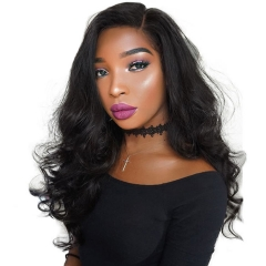 10A High Quality African American Brazilian Virgin Hair 360 Lace Frontal Wigs Cheap Real Human 360 Lace Wig Body Wave 250g