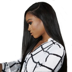 10A High Quality African American Brazilian Virgin Hair 360 Lace Frontal Wigs Cheap Real Human 360 Lace Wig Straight 250g