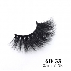 Real mink eyelashes 6D mink lashes 10pairs 3days to prepare 6D-33